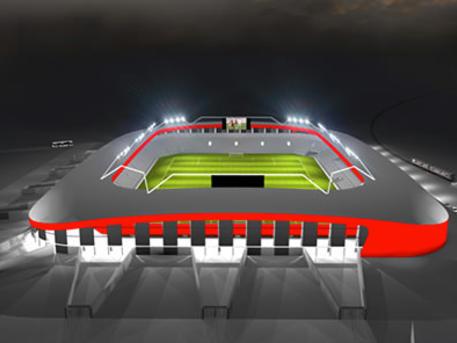 Ilyen lesz az új aréna (forrás: honvedfc.hu)