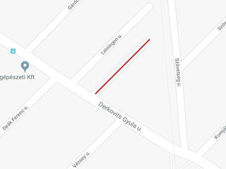 A pirossal jelölt utcácska kapott nevet