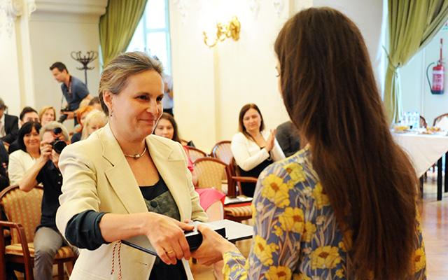 Vásárhelyi Gabriella is elismerésben részesült (forrás: budapest.hu)