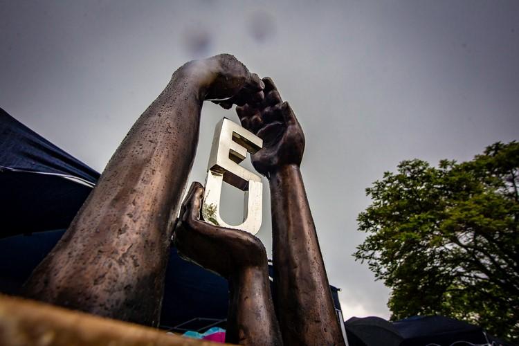 Az új köztéri szobor (forrás: uj.kispest.hu)