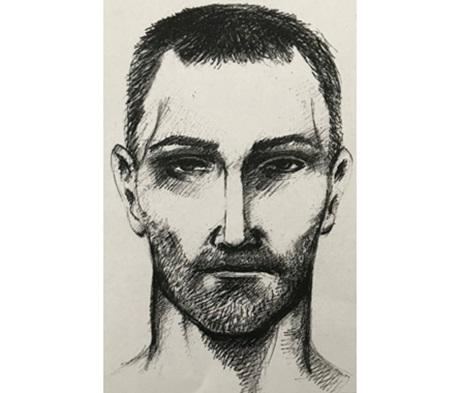 Az elkövetőről készült grafika (forrás: police.hu)