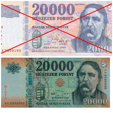 2017. december 31-ig fizethetünk a régi bankjeggyel